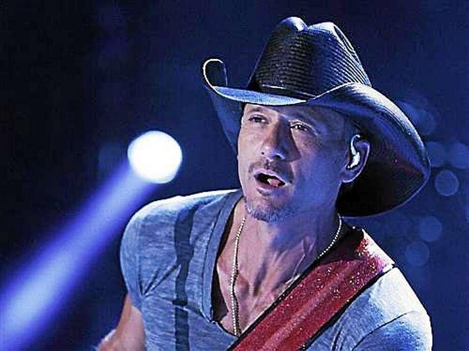 Tim McGraw Photo: AP File Photo