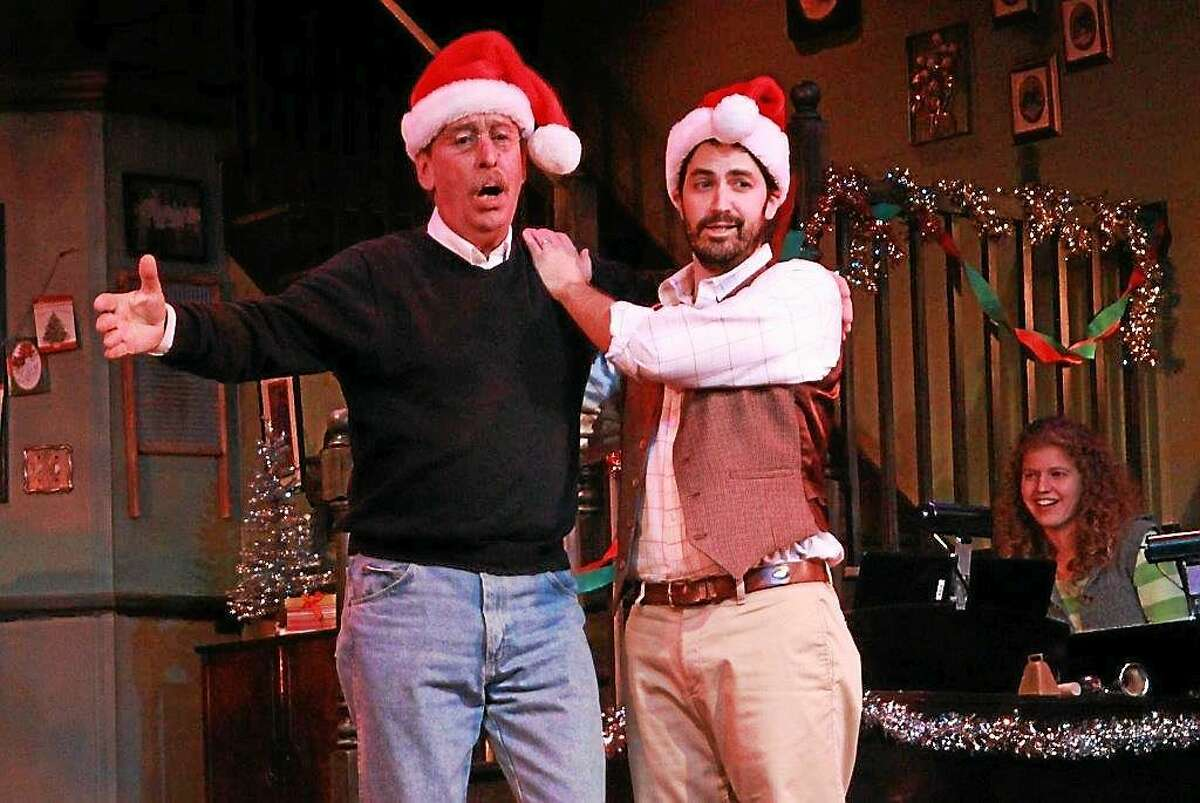 Submitted photo ó Ivoryton Playhouse Norm Rutty and Michael Mcdermott in Ivoryton Playhouseís ìThe Carol Of The Bells.î The play wraps up Sunday, Dec. 21.