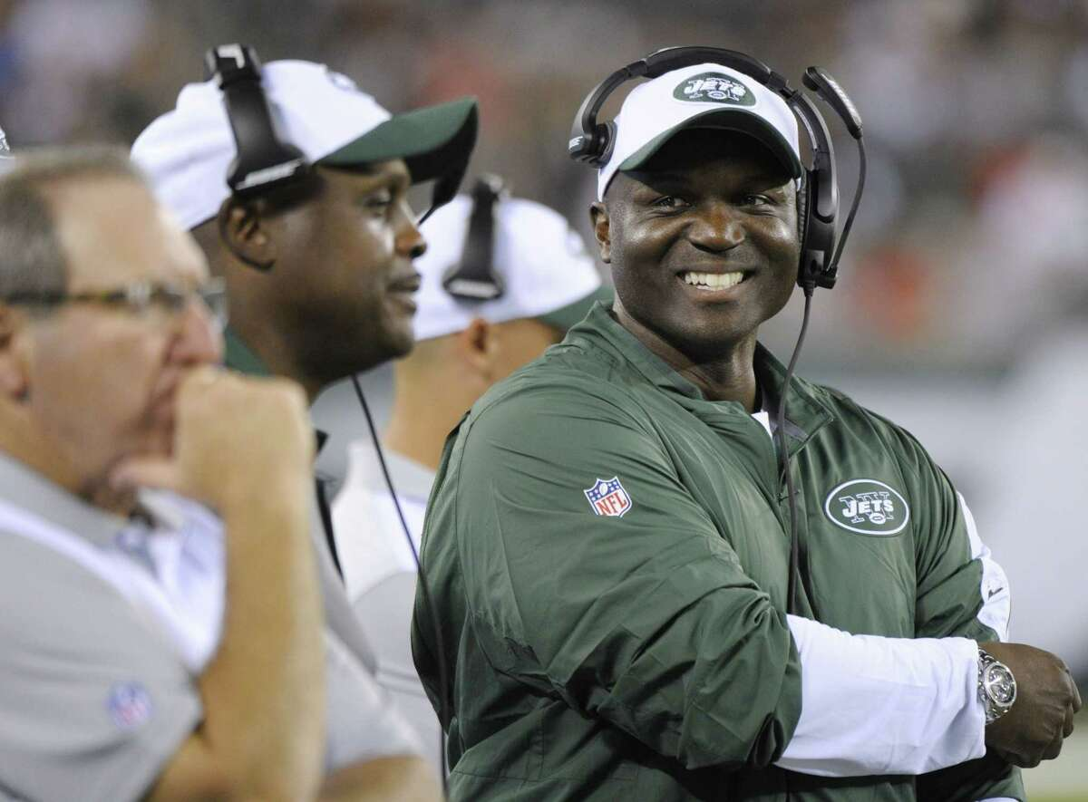 Jets head coach Todd Bowles reacts during the second half of Friday's preseason game against the Atlanta Falcons in East Rutherford, N.J.