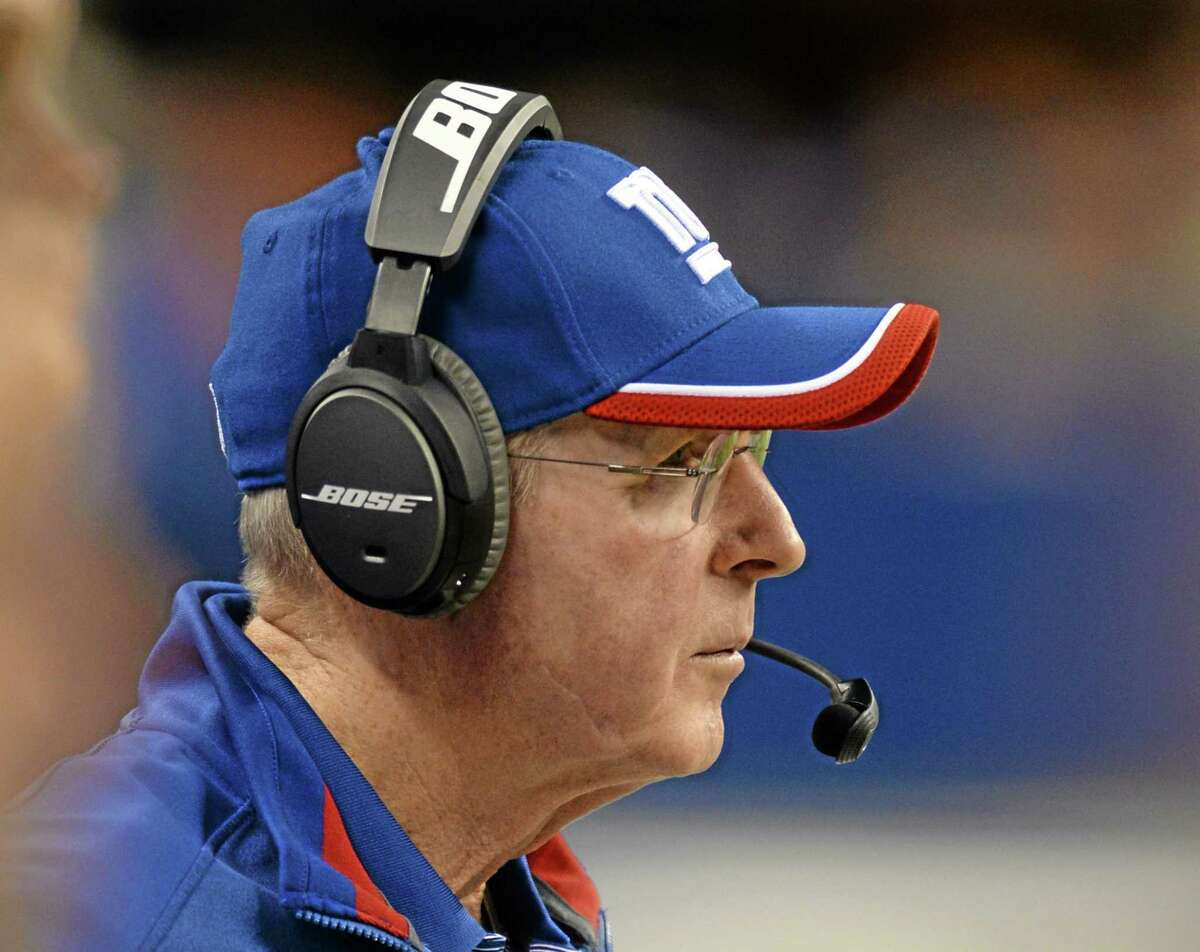 New York Giants coach Tom Coughlin watches from the sideline during the first half of a preseason game against the Colts on Aug. 16 in Indianapolis.