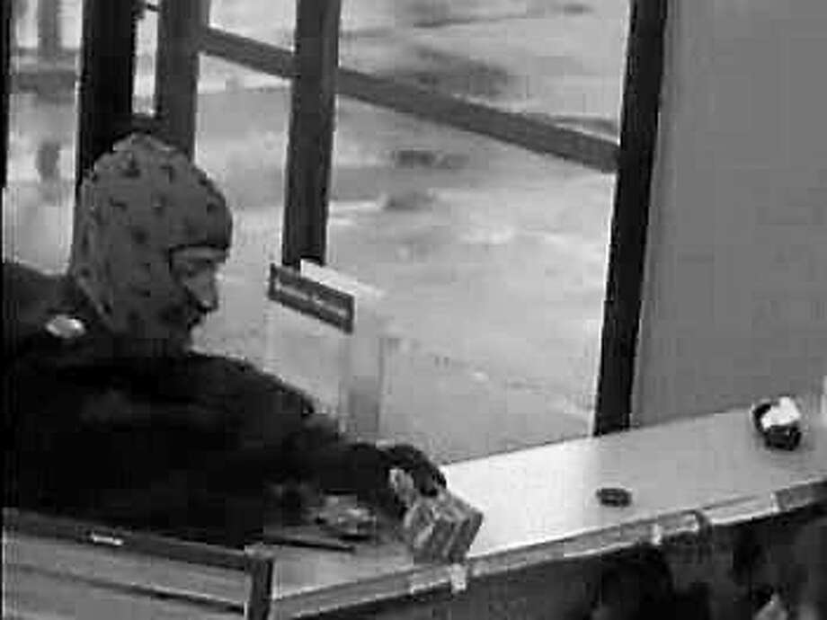 Surveillance footage shows the man police say robbed Middletown's Wells Fargo bank branch Photo: Courtesy Middletown Police