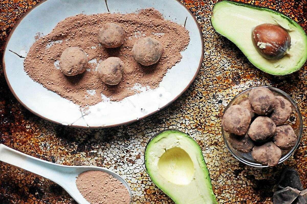 Chocolate Avocado Truffles use creamy avocado in place of dairy.