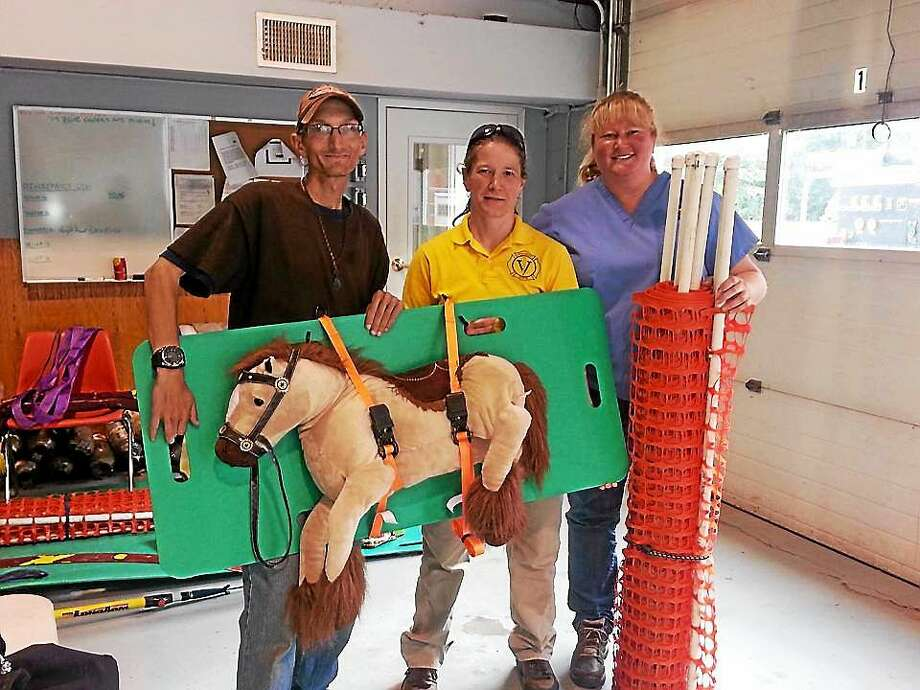 Attendees of a recent disaster preparedness clinic learned about the importance of microchipping horses and can now do so at a clinic at Connecticut Draft Horse Rescue in Haddam Neck in September. Photo: Submitted Photo