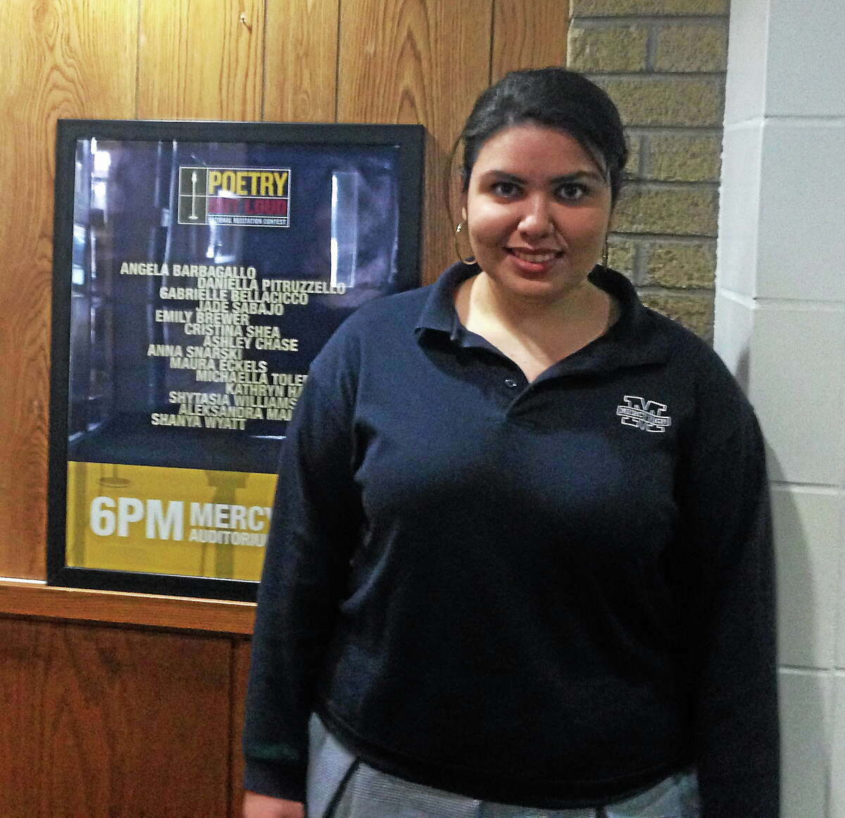 Michaella Toledo, 17, of Middletown, is on her way to nationals in Washington, D.C., after winning states for poetry recitation.