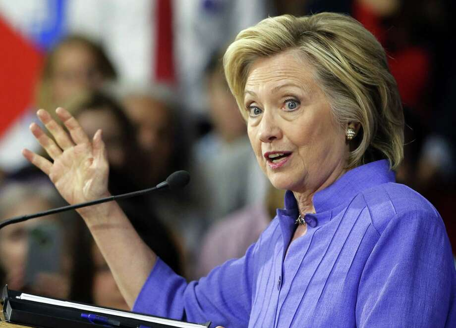 Democratic presidential candidate Hillary Rodham Clinton announces her college affordability plan, Monday, Aug. 10, 2015, at the High School in Exeter, N.H. Photo: AP Photo/Jim Cole / AP