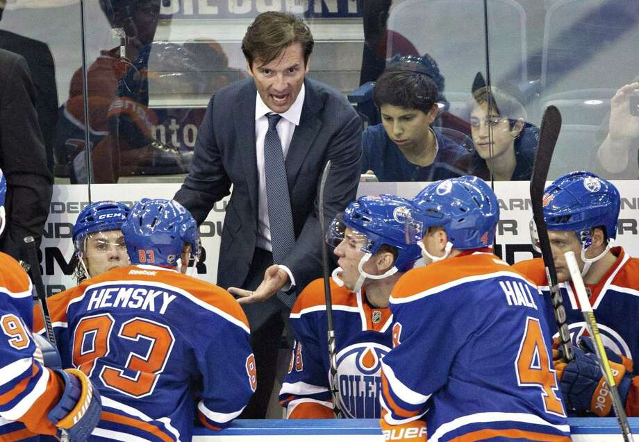 The Edmonton Oilers fired head coach Dallas Eakins on Monday. Photo: Jason Franson — The Canadian Press File Photo  / CP