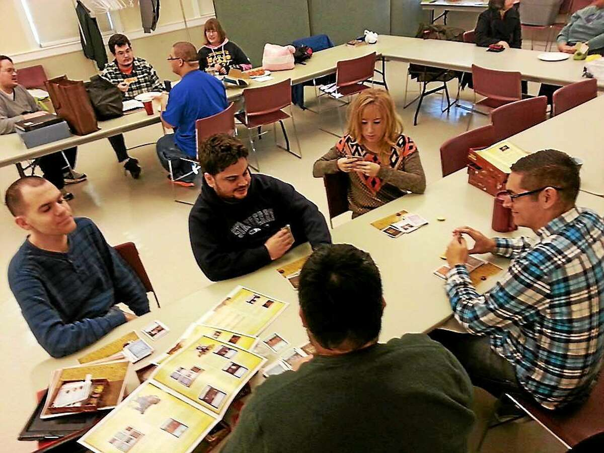Courtesy Ryan Patrick Casey Young adults on the autism spectrum recently enjoyed a night of games and socializing in Middletown.