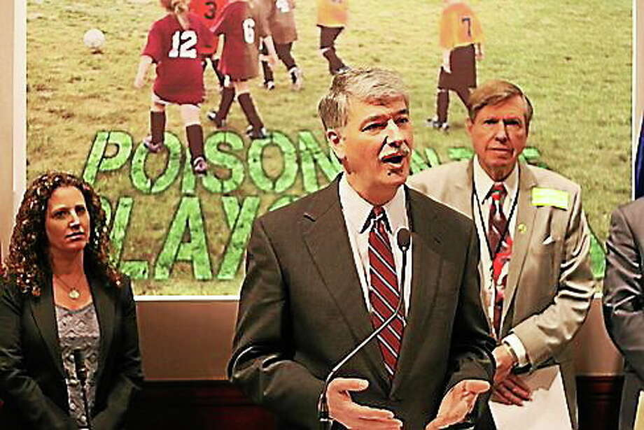 State Sen. Don Williams talks about GMO grass. Photo: Courtesy Of CT News Junkie