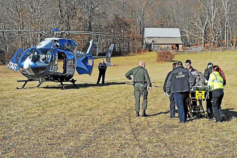 Olivia Drake - Haddam Volunteer Fire Co. Haddam Volunteer Fire Company and Haddam Volunteer Ambulance Service responded to reports of a wounded hunter with a leg injury on Saturday. Photo: Journal Register Co.