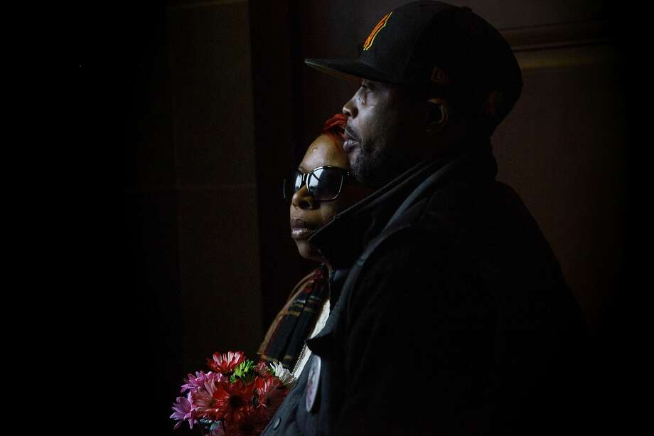 Michael Brown's mother Lesley McSpadden and his step-father Louis Head prepare to leave the Missouri Capitol building after the NAACP rally in Jefferson, Mo. on Dec. 5, 2014. Photo: AP Photo/The Jefferson City News-Tribune, Kile Brewer  / The Jefferson City News-Tribune