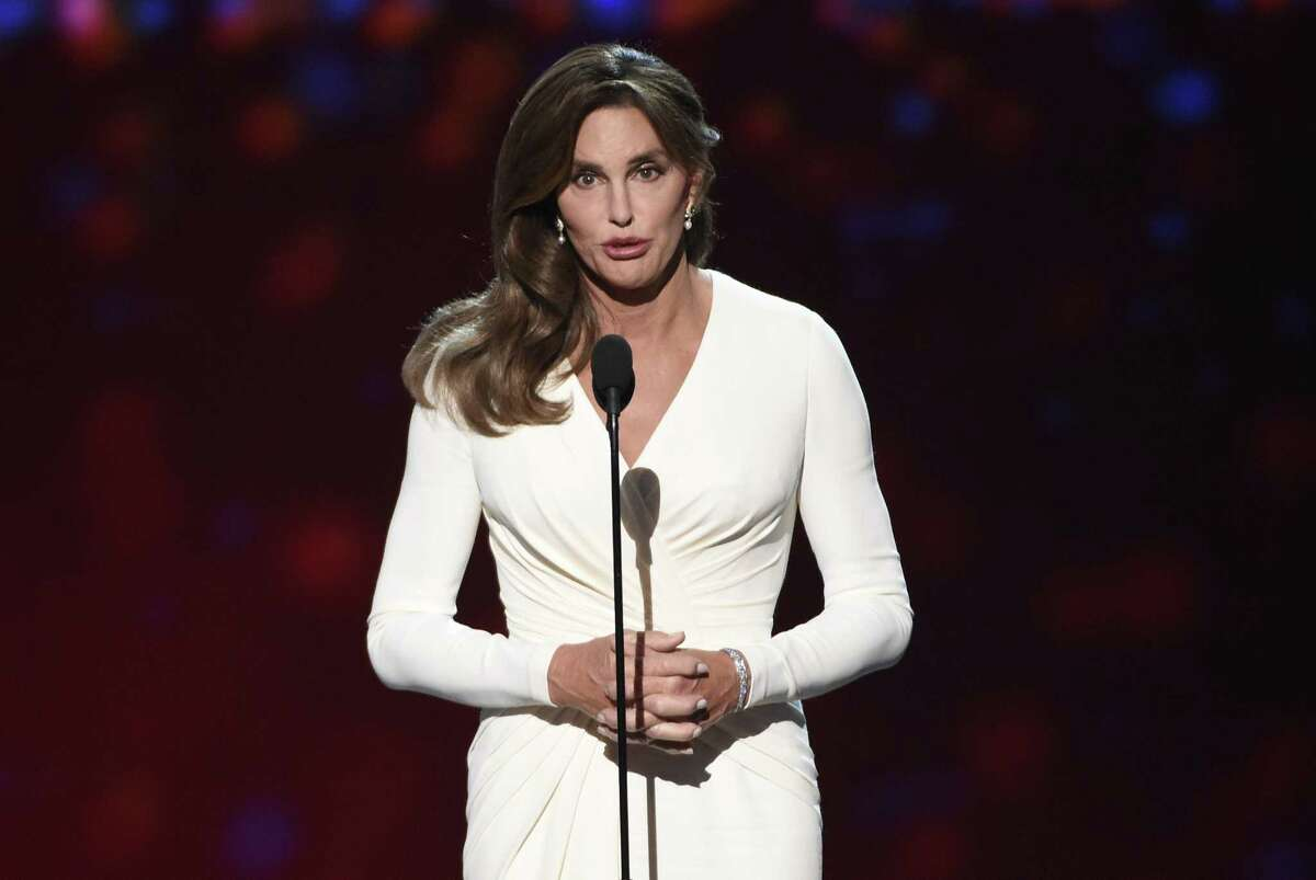 """FILE - In this Wednesday, July 15, 2015 file photo, Caitlyn Jenner accepts the Arthur Ashe award for courage at the ESPY Awards at the Microsoft Theater in Los Angeles. Sheriff's investigators plan to recommend prosecutors file a vehicular manslaughter charge against Jenner for her role in a fatal car crash on the Pacific Coast Highway in Malibu last February. Los Angeles County Sheriff's Department spokeswoman Nicole Nishida says investigators found that Jenner was driving """"unsafe for the prevailing road conditions"""" because her SUV rear-ended a Lexus, pushing it into oncoming traffic."""
