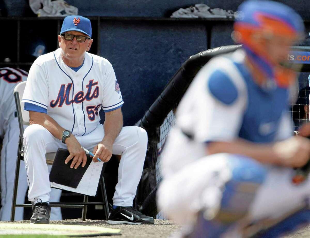 New York Mets pitching coach Dan Warthen.