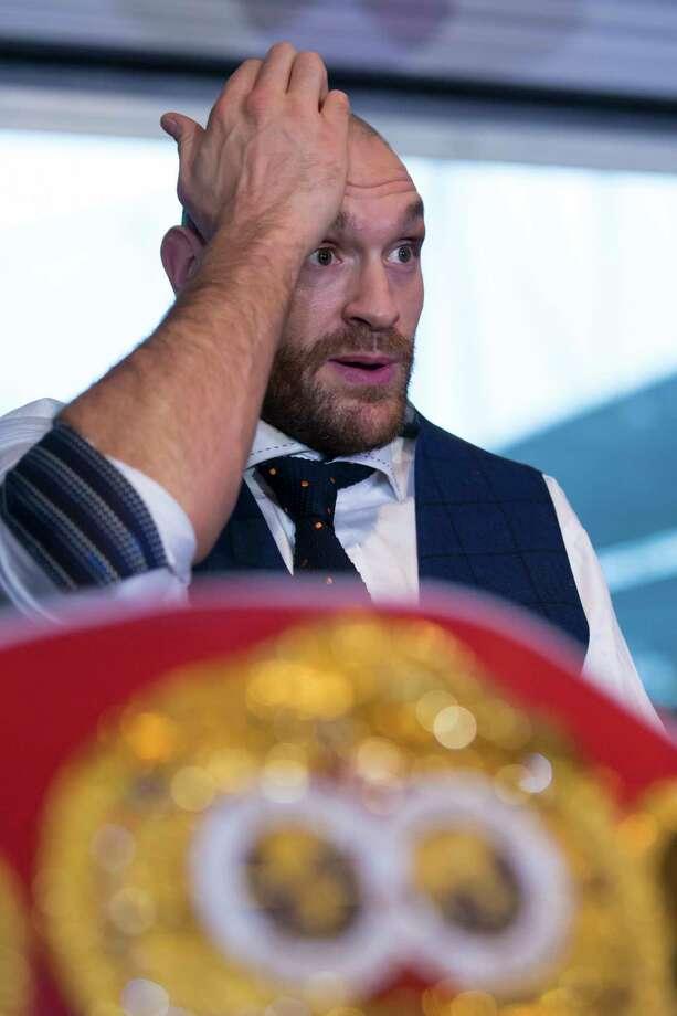 The IBF stripped Tyson Fury of its heavyweight title. Photo: Jon Super — The Associated Press File Photo  / AP