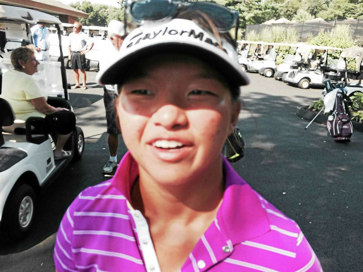 Megan Khang won the Connecticut Women's Open in record-breaking fashion on Wednesday at the Golf Club of Avon.