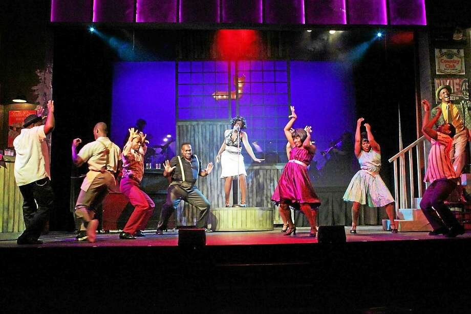 "Photo courtesy of Ivoryton Playhouse Renee Jackson and the cast of ""Memphis"" get the house rocking during a performance at the Ivoryton Playhouse. Photo: Journal Register Co."