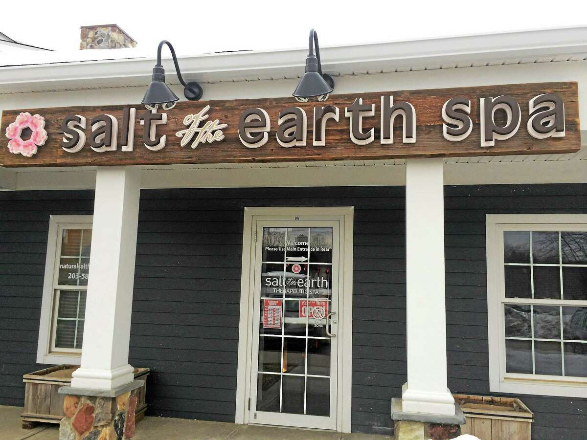 The front entrance to Salt of the Earth Spa.