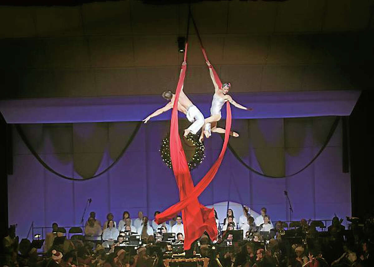Contributed photoThe Hartford Symphony Orchestra will combine acrobatics and holiday music at Holiday Cirque Spectacular on Saturday, December 19.