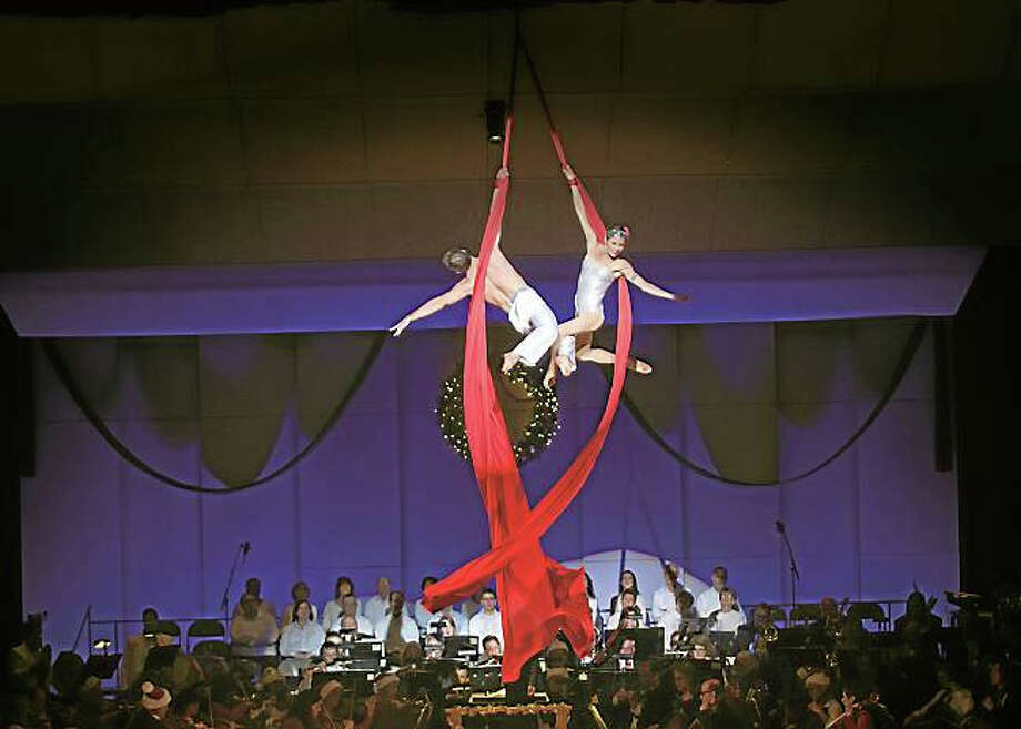 Contributed photoThe Hartford Symphony Orchestra will combine acrobatics and holiday music at Holiday Cirque Spectacular on Saturday, December 19. Photo: Journal Register Co. / ALAN GRANT