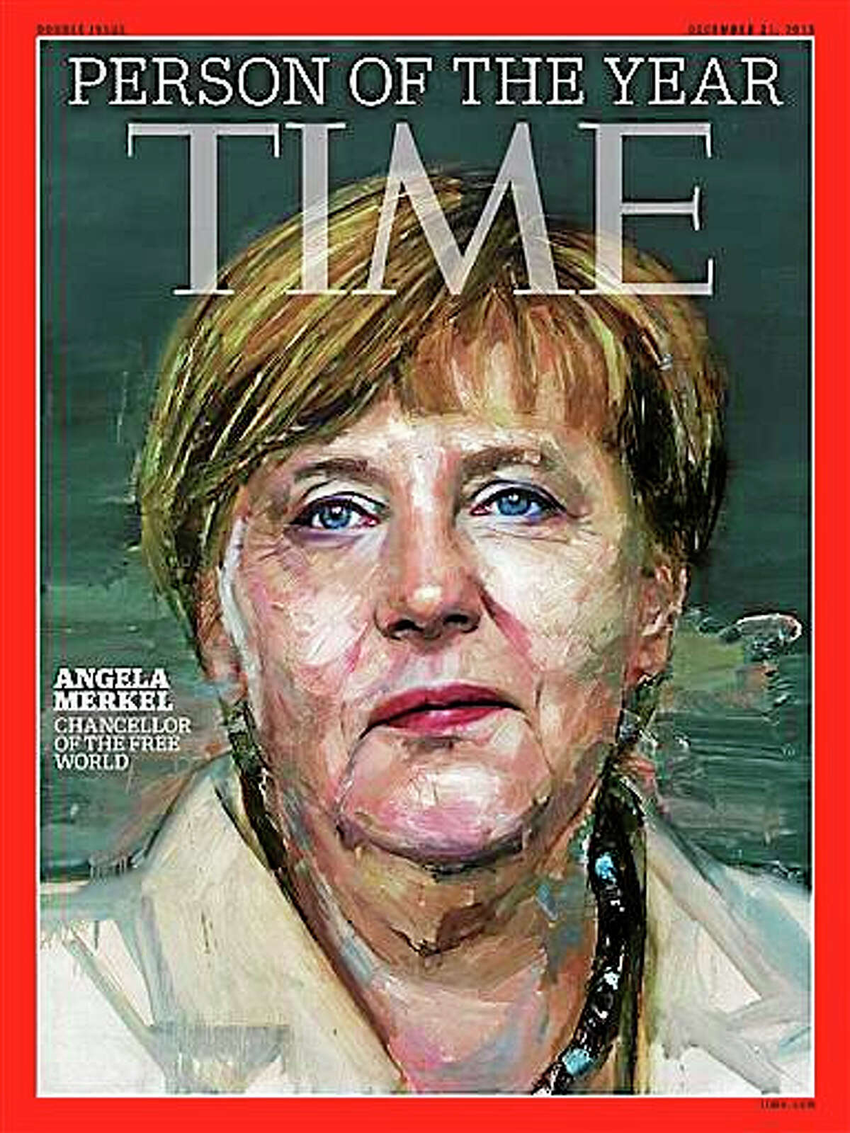 Cover of Time, showing Angela Merkel as Person of the Year