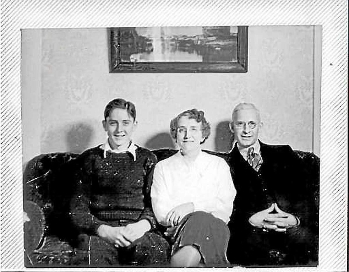 Edwin Hopkins, left, with his mother, Alice, and father, Frank.