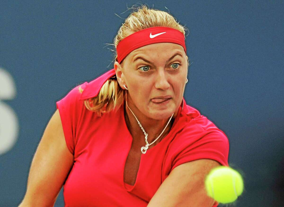 No. 2 seed Petra Kvitova advanced to the semifinals of the Connecticut Open with a 6-4, 6-1 win over Barbora Zahlavova Strycova on Thursday afternoon at the Connecticut Tennis Center.