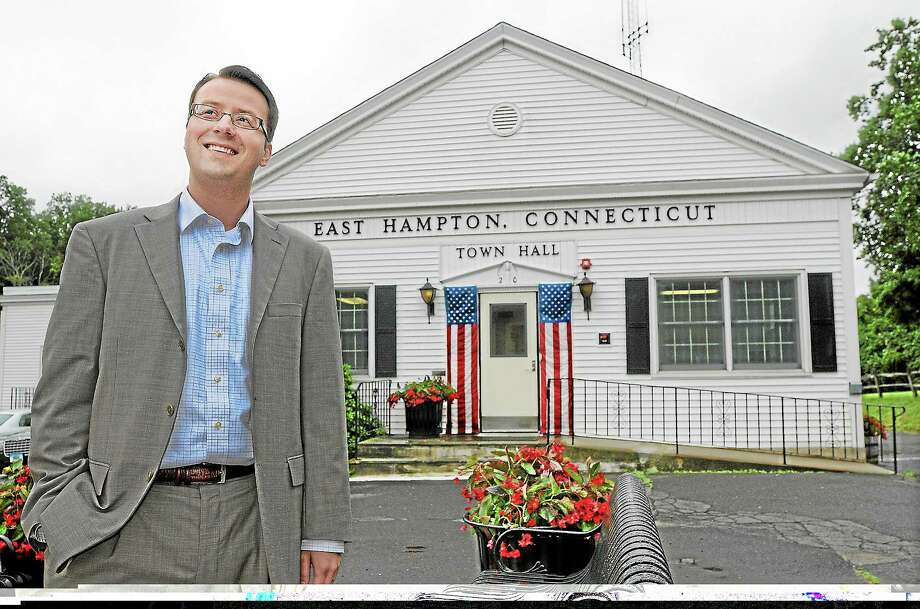 East Hampton resident Michael Maniscalco completed his first year as East Hampton's Town Manager on July 9. Photo: Catherine Avalone -- The Middletown Press  / TheMiddletownPress