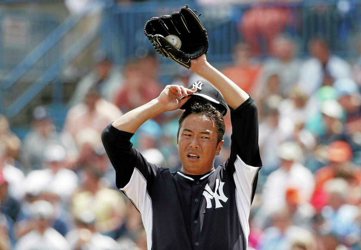 New York Yankees starting pitcher Hiroki Kuroda allowed four runs in the first inning of a spring training game against the Detroit Tigers in Tampa, Fla., on Wednesday.
