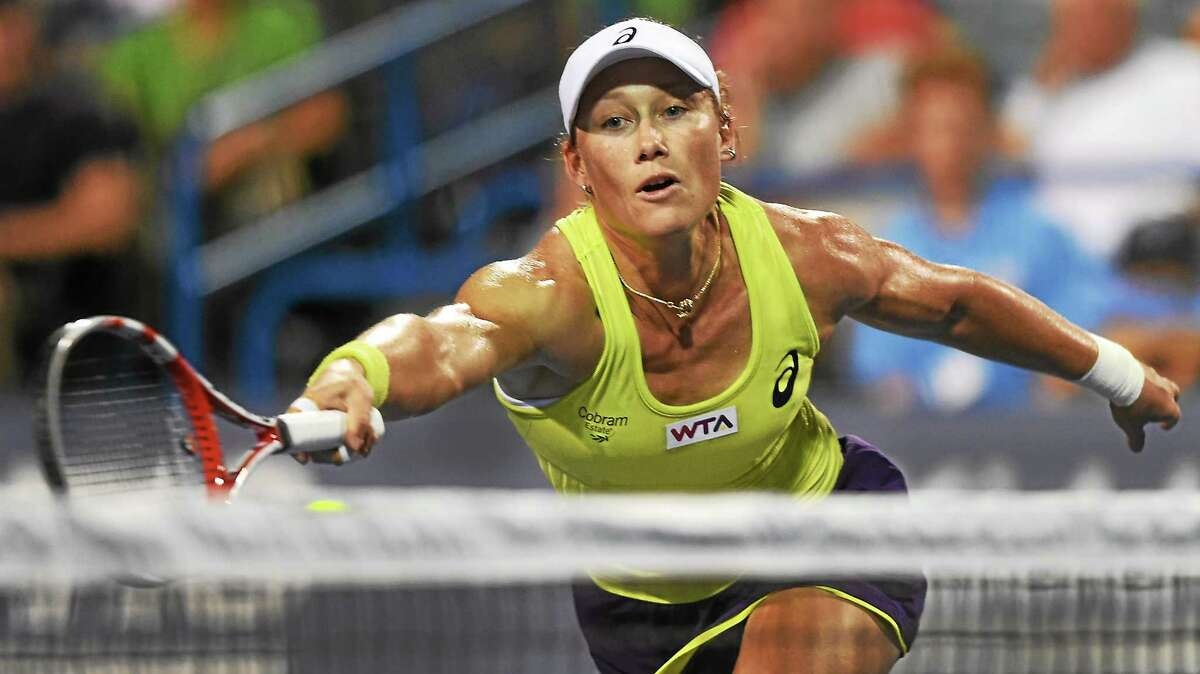 When Sam Stosur beat No. 3 seed Genie Bouchard on Wednesday night to reach the quarterfinals, she became the second highest-ranked player remaining in the Connecticut Open. Only No. 2 seed and fourth-ranked Petra Kvitova boasts a higher WTA ranking than unseeded, No. 25 Stosur.