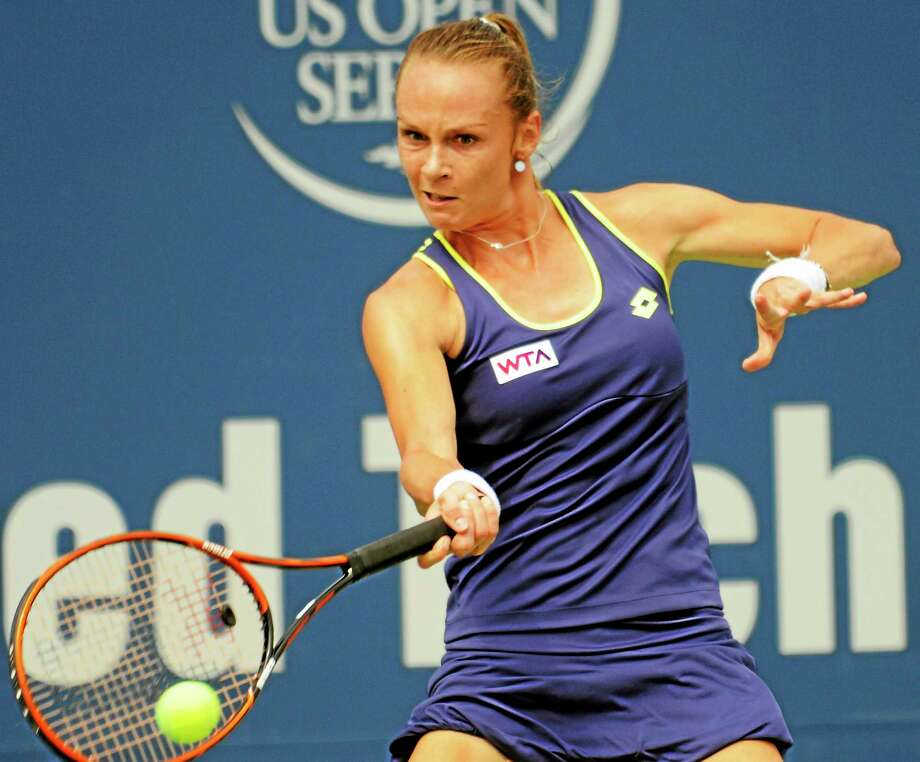 Magdalena Rybarikova defeated Alison Riske in the quarterfinals Thursday at the Connecticut Open. Photo: Bob Child — For The Register  / New Haven Register