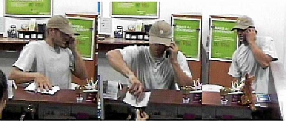 Police are asking for the public's help to identify this man, who they say robbed a bank in Deep River Monday. Photo: Photo Courtesy Of Connecticut State Police