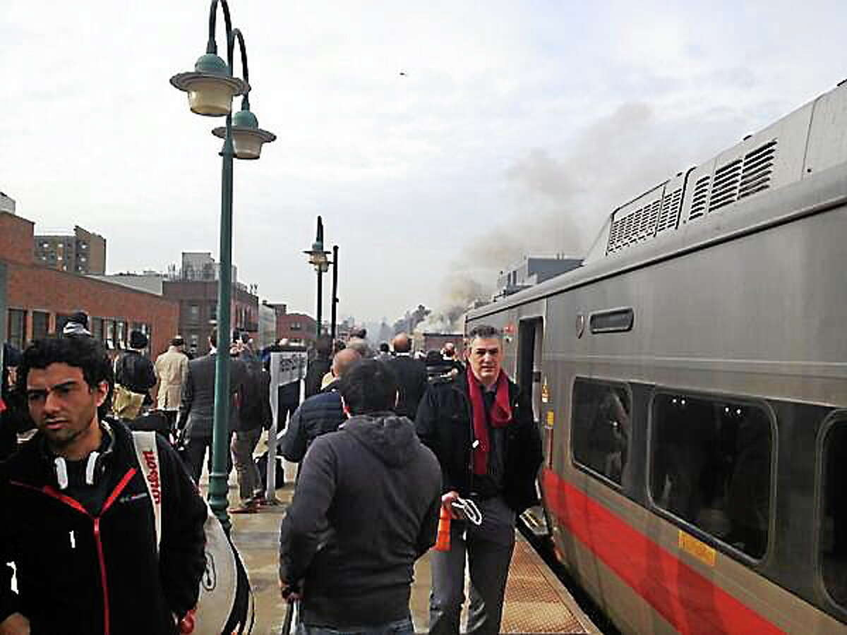 Smoke seen at the 125th Street Harlem stop in New York City.