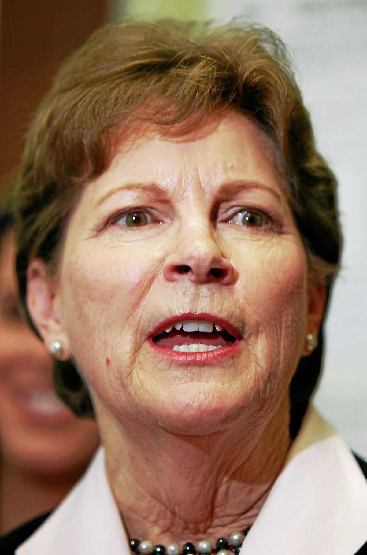 In a June 9, 2014 photo, U.S. Sen. Jeanne Shaheen D-N.H. talks about her plans if she wins re-election after filing her campaign paperwork to seek re-election at the Secretary of State's office in Concord, N.H.