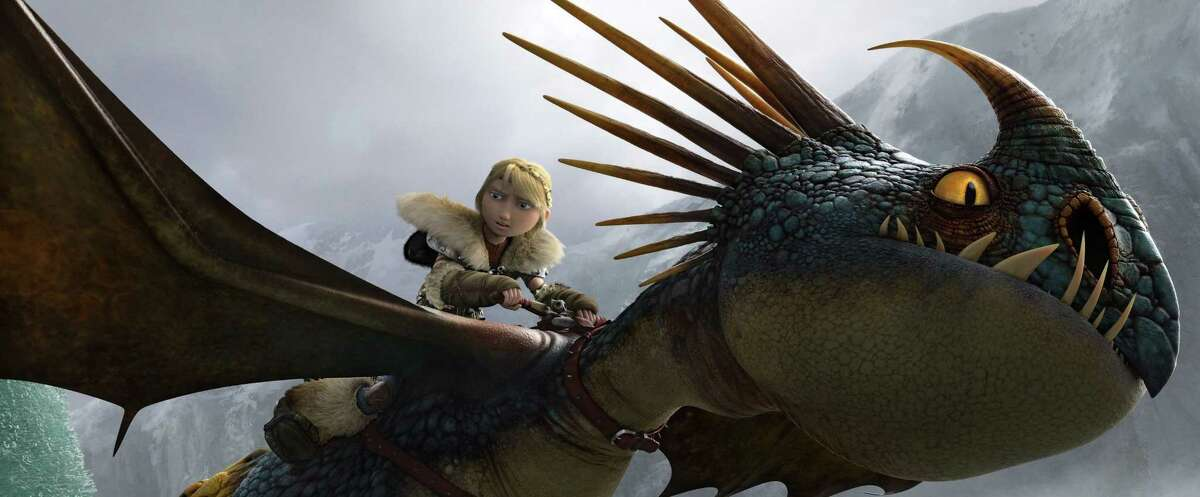 """This image released by DreamWorks Animation shows the character Astrid, voiced by America Ferrera, in a scene from """"Hot To Train Your Dragon 2."""""""