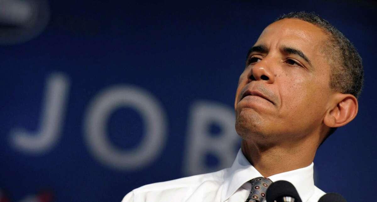 President Barack Obama speaks at Eastfield College in Mesquite, Texas.