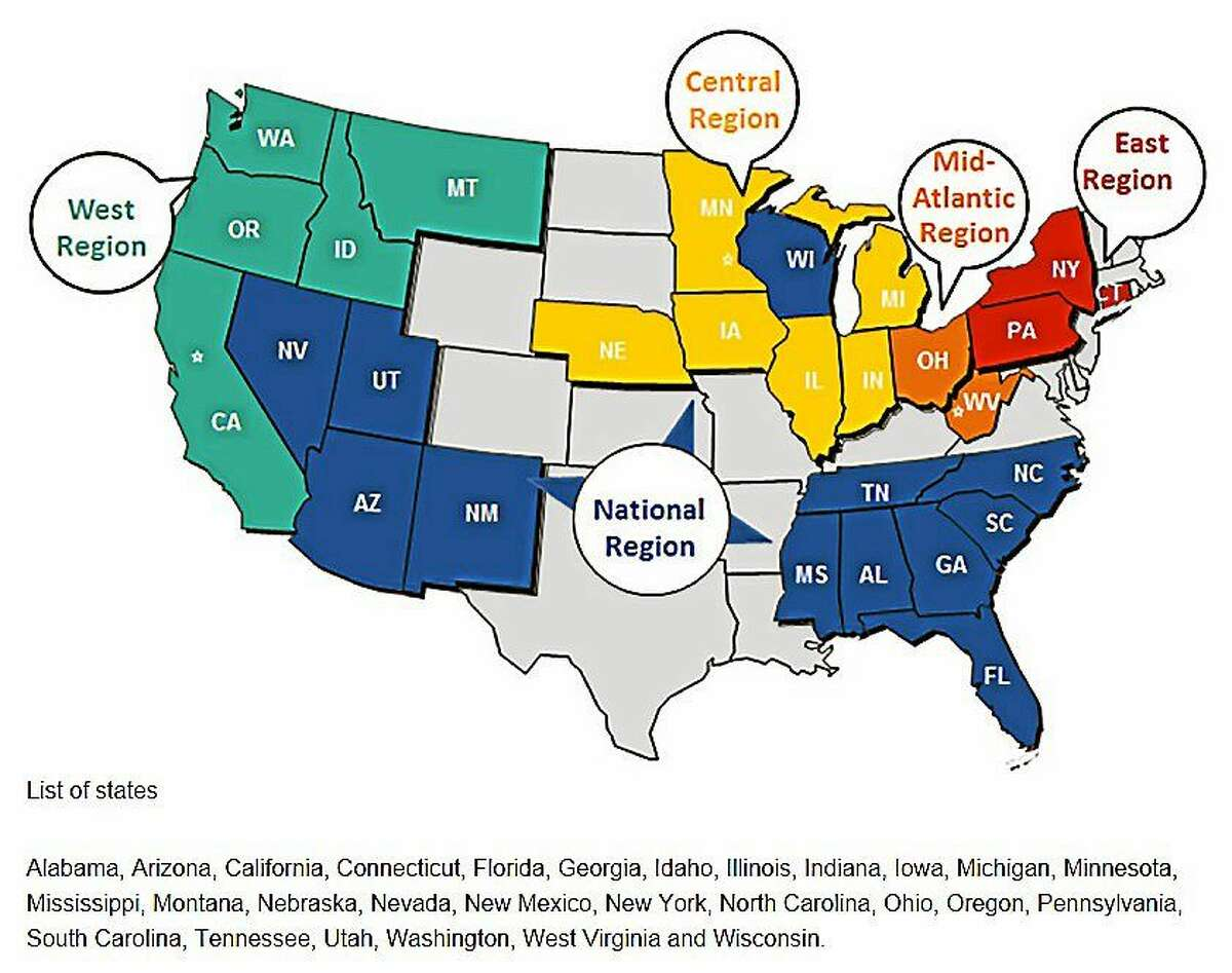 States serviced by Frontier Commuciations