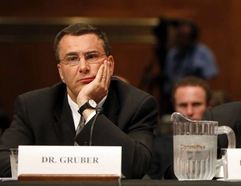 "FILE - In this May 12, 2009, file photo Jonathan Gruber, professor of Economics at the Massachusetts Institute of Technology, participates in a Capitol Hill hearing on the overhaul of the heath care system in Washington. A supporter of the Affordable Care Act, Gruber says, ""Itís so crazy to think that a society that has Social Security and Medicare would not find this (law) constitutional.î Gruber advised both the Obama administration and Massachusetts lawmakers as they developed the state mandate in the 2006 law that Republican presidential candidate Mitt Romney championed as governor. (AP Photo/Pablo Martinez Monsivais, File) Photo: AP / AP"