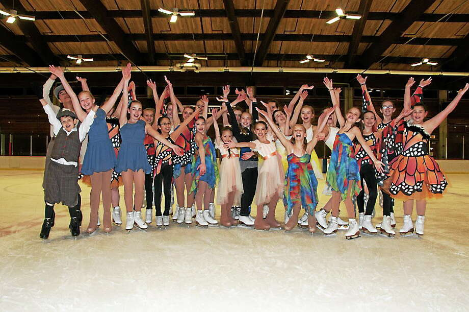 """Submitted photo - Cardinal school Students rehearse for """"The Secret Garden"""" ice show, which they will perform Saturday at Wesleyan University in Middletown. Photo: Journal Register Co."""