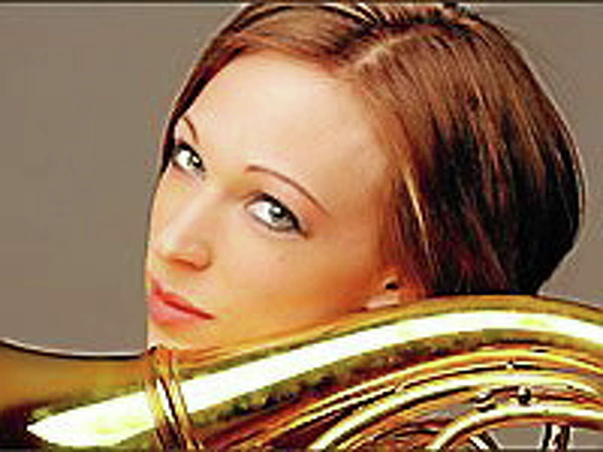 Submitted photo - Leelanee French horn player Leelanee Sterrett, who will participate in a concert presented by the Community Music School.
