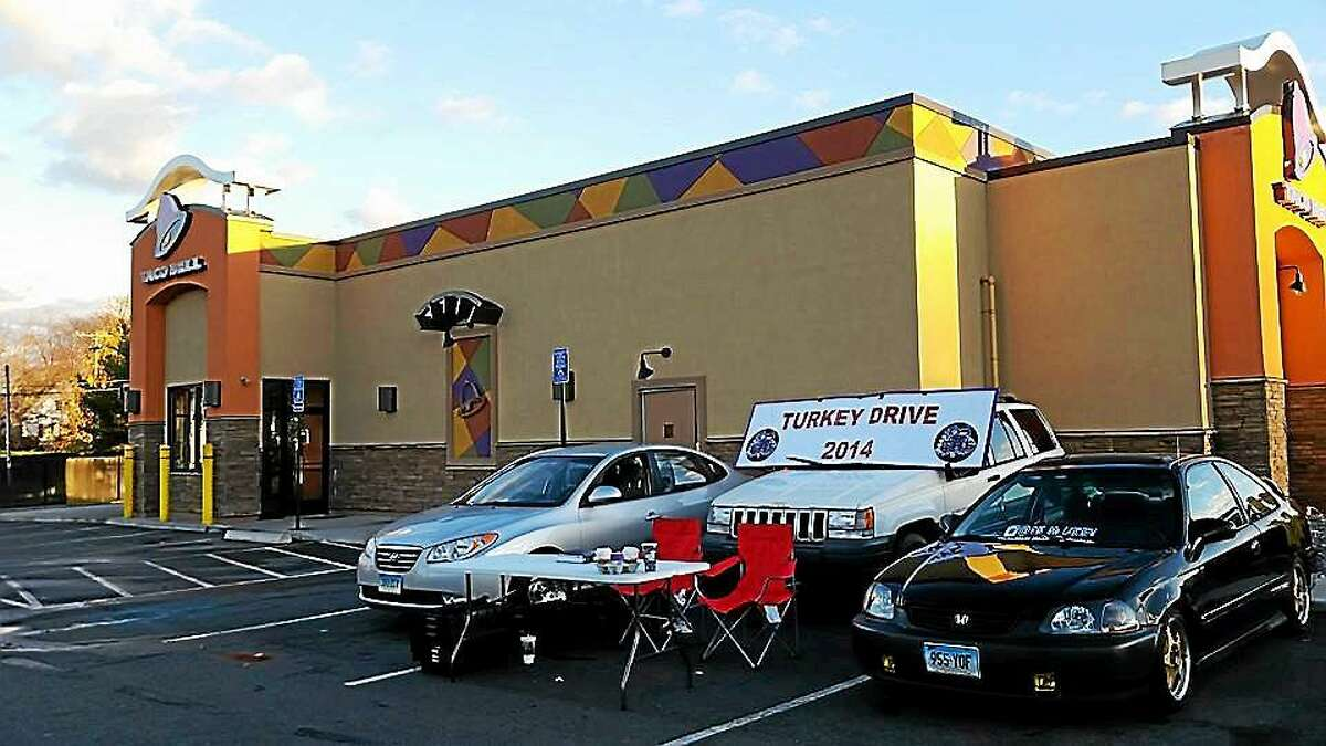 The Eight-Sixty Racing Enthusiasts of Middletown recently collected 57 turkeys and many non-perishable food donations during a drive at Taco Bell on Washington Street.