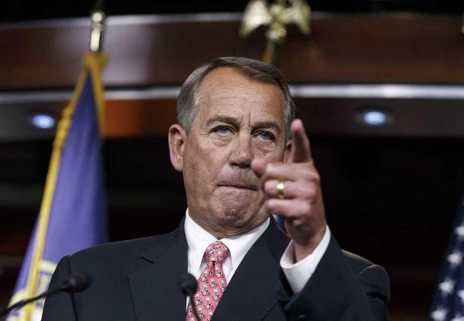 House Speaker John Boehner of Ohio Photo: (AP Photo/J. Scott Applewhite) / AP