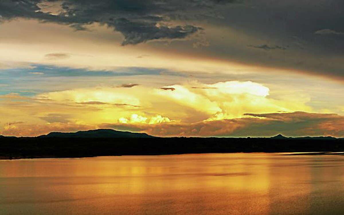 Nile River at sunset, Uganda
