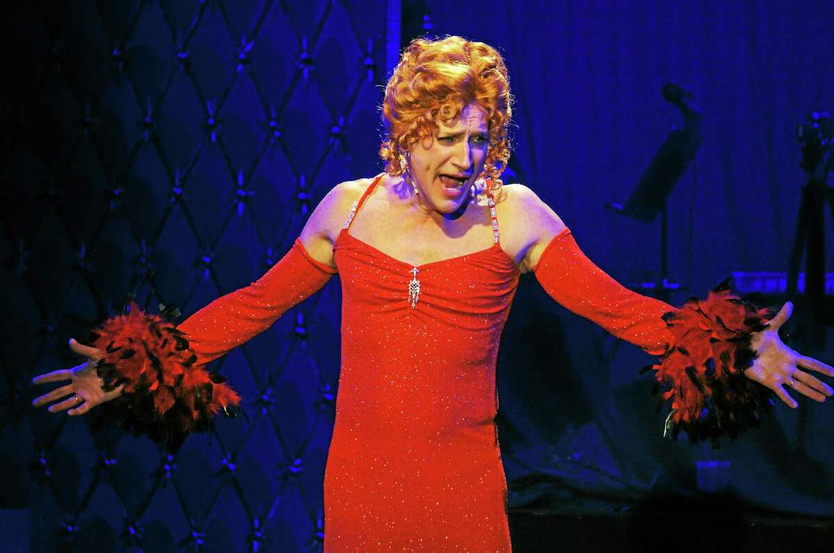 """Photo by Anne Hudson David Edwards plays the principal role of Albin in """"La Cage Aux Folles"""" at the Ivoryton Playhouse."""