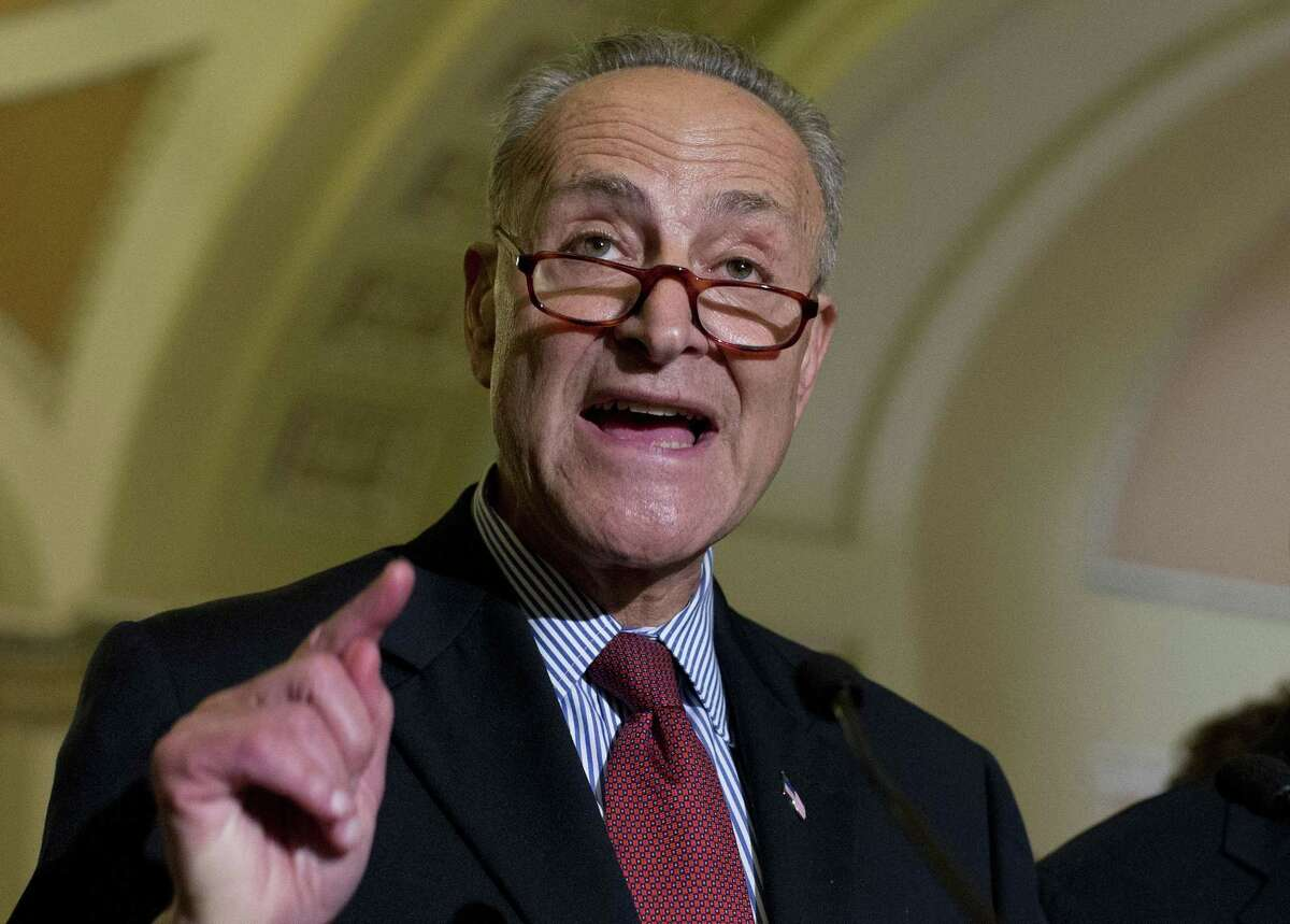 In this July 8, 2015 photo, Sen. Charles Schumer, D-N.Y. speaks on Capitol Hill in Washington.