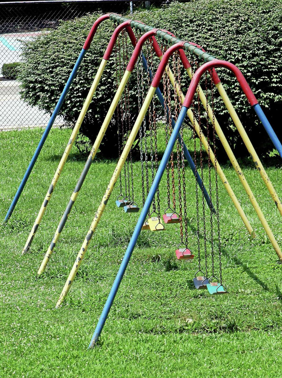 Digital First Media file photo A swing set sits idle in West Chester, Pa., in this 2013 file photo.