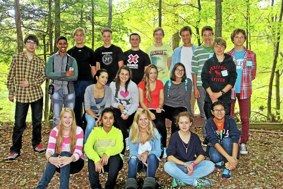 CONTRIBUTED PHOTO Foreign exchange students who were hosted here in 2013. Photo: Journal Register Co.