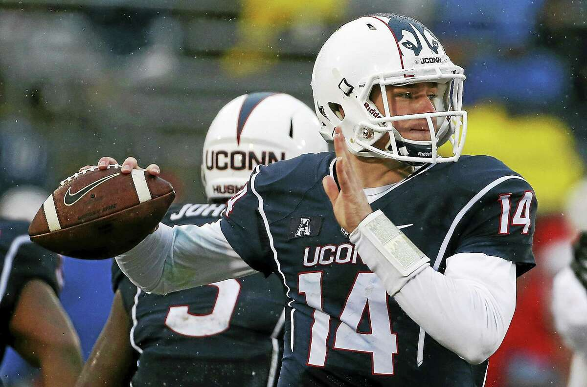 Tim Boyle is battling for UConn's starting quarterback spot as the Huskies enter the annual spring game.