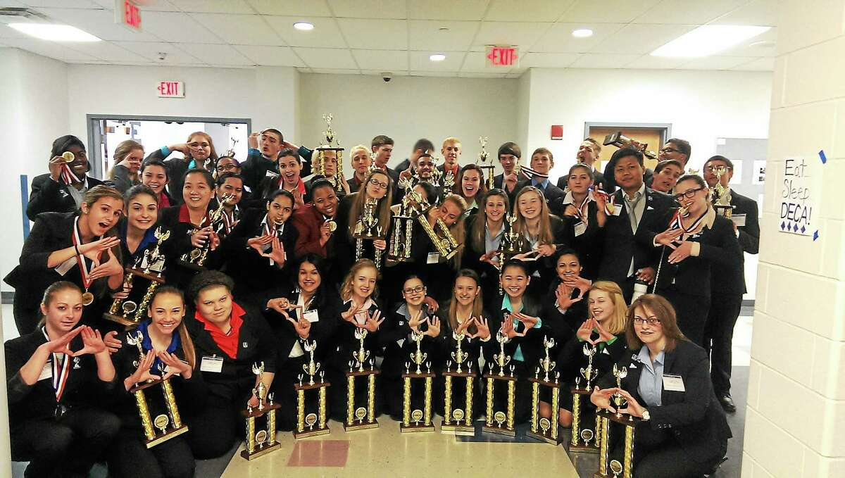 Middletown High School students competed in the statewide Distributive Education Club of America competition in February.