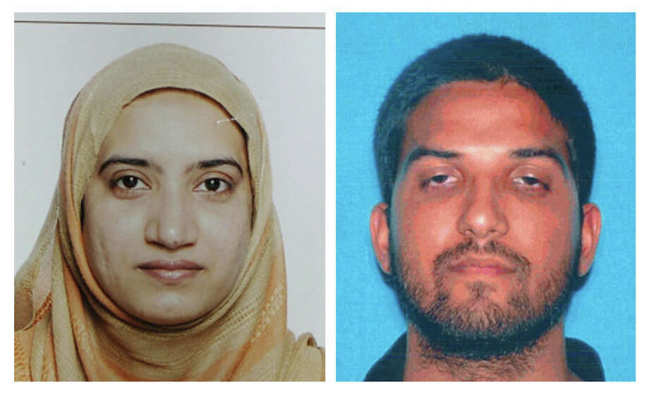 This undated combination of photos provided by the FBI, left, and the California Department of Motor Vehicles shows Tashfeen Malik, left, and Syed Farook. The husband and wife died in a fierce gunbattle with authorities several hours after their commando-style assault on a gathering of Farook's colleagues from San Bernardino, Calif., County's health department Wednesday, Dec. 2, 2015. Photo: FBI, Left, And California Department Of Motor Vehicles, Via AP   / FBI and California Department of Motor Vehicles