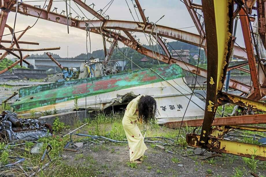 Photo by William Johnston Eiko in Fukushima, 22 July 2014, Tomioka, No. 1104. Photo: Journal Register Co. / William Johnston 2014