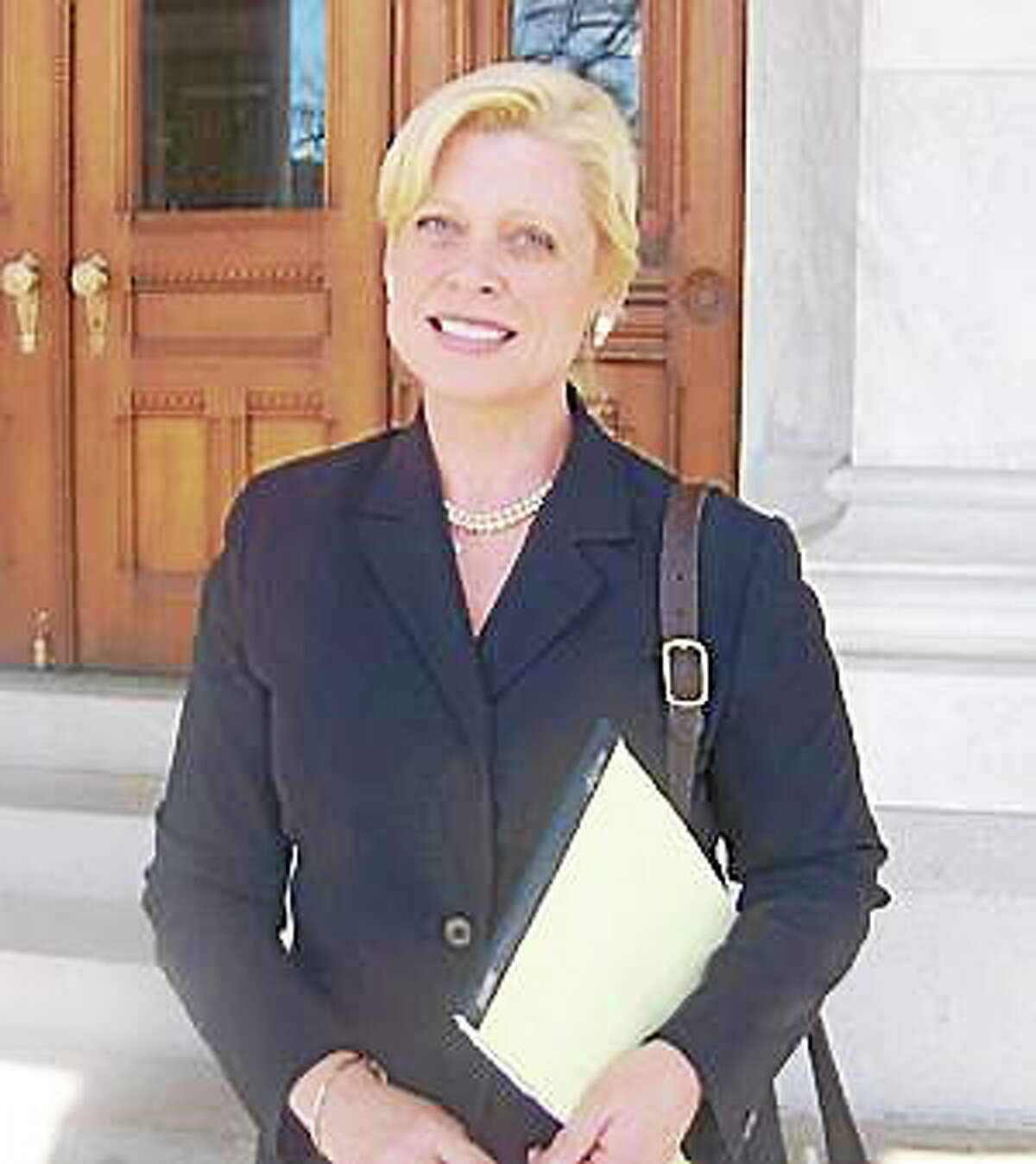 Photo by Barbara Thomas Avon attorney Martha Dean is hoping for a nod from the state Republican Town Committee for a run for state's attorney general.